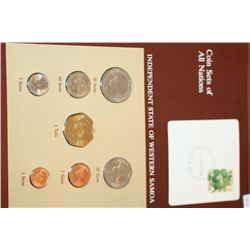 Independent State of Western Samoa; Coin Sets of All Nations W/Postal Stamp Dated 1984