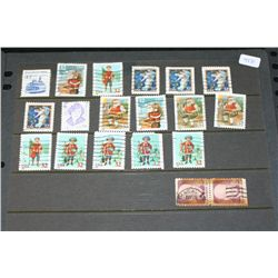 US Postal Stamps; Lot of 19