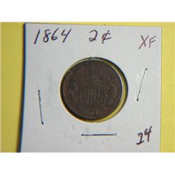 1864 2CENT COPPER