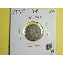 1865 3CENT NICKEL