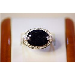 Lady's Fancy Silver Blue Sapphire Ring