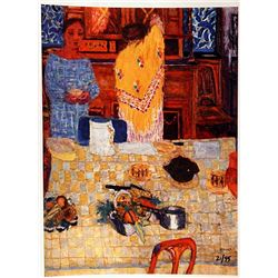 Pierre Bonnard THE YELLOW SHAWL  Signed Limited Ed. Lithograph
