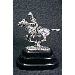 Large Remington Real .999 Silver -Trooper Of The Plains