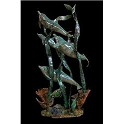 Bronze Sculpture - Playtime by J. Townsend