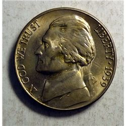 1939 S JEFFERSON NICKEL ORIGINAL, GEM BU, CHERRY!