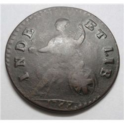 1788 Vermont Cent Scarce Bust right