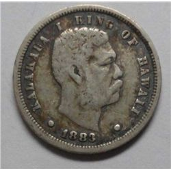 1883 Hawaii Dime, 10 cents, pleasing VF