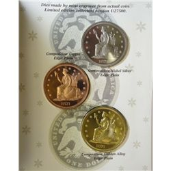 "Limited Edition J.B. Longacre's 1871 Indian Princess Dollar ""Copies"""