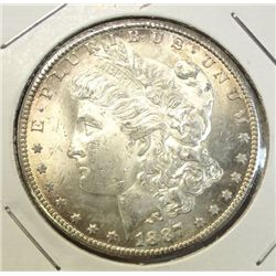 1887S  Morgan $  MS63
