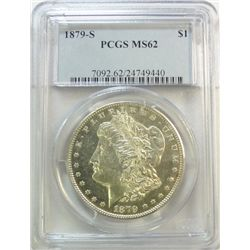 1879S Morgan $   PCGS62  semi-PL
