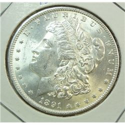 1891 Morgan $  MS62/63