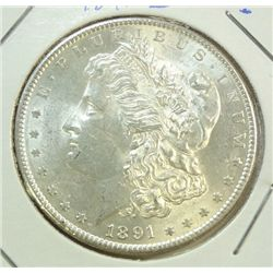 1891S  Morgan $  MS61