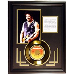 Bruce Springteen Giclee with Gold Record
