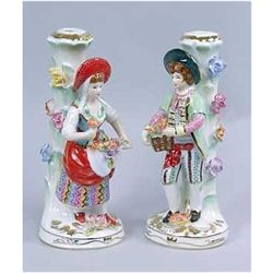 Attributed to Meissen Porcelain Candleholder