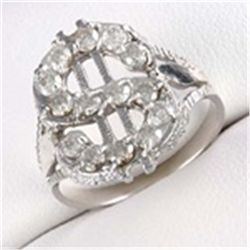 Diamond 10K White Gold  $  Ring