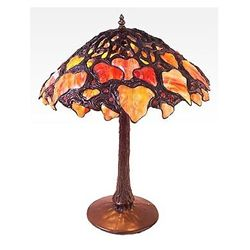 Tiffany Style Three Mushroom Lamp
