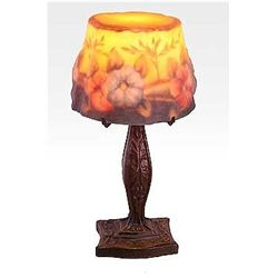 Attributed to Tiffany Dragonfly Floral Lamp