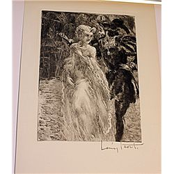 Stunning Original Signed Icart Lithograph on Paper