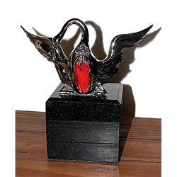Dali Limited Edition Real Silver  Sculpture - Winged Swan for Bacchanale Ballet