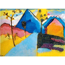Nature Study from MurnauI 1909 - Kandinsky - Limited Edition on Canvas