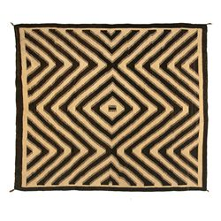 "Navajo Woman's Shoulder Blanket, 5'5"" x 4'8"""
