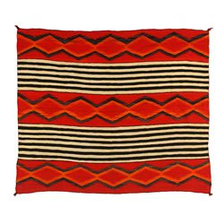 "Navajo Woman's Shoulder Blanket, 5'7"" x 4'9"""