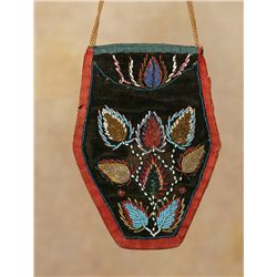 Mic Mac Beaded Purse, circa 1850s