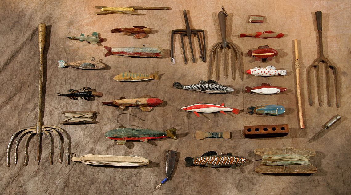 Chippewa Spear Fishing Collection, circa early 1900s