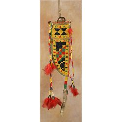 Sioux Beaded & Quilled Knife Sheath, 19th century