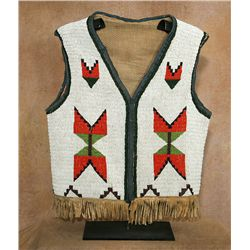 Northern Plains Fully Beaded Vest, circa 1910.