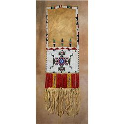 Lakota Sioux Pipebag, Beaded & Quilled, 19th century