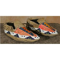 Northern Plains Moccasins with Pueblo Modifications, Meyers Collection