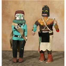 Pair of Hopi Kachina Carvings, Meyers Collection