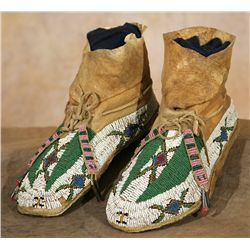 Ute Beaded Moccasins, circa 1890s