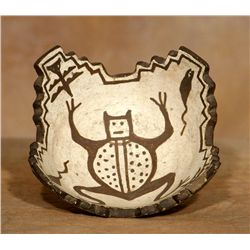 Zuni Kiva Bowl, frog, tadpole and moth design