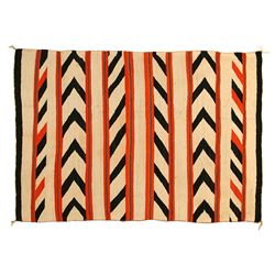 "Navajo Transitional Banded Serape, 5'6"" x 3'9"""