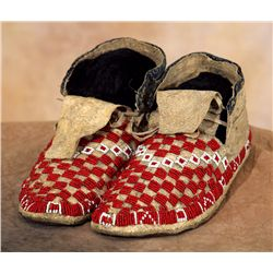 Sioux Beaded Moccasins, circa 1910