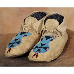 Blackfeet Beaded Moccasins, circa 1910