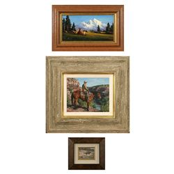 Group of Three Paintings: Heinie Hartwig, Mark Swanson & Frank Magsino