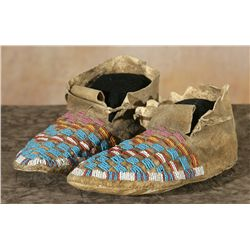 Yankton Sioux Moccasins, early 1900s.