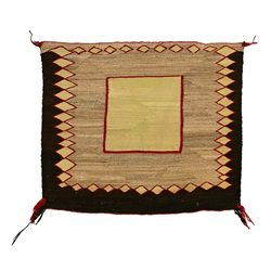 "Navajo Single Saddle Blanket, 2'6"" x 2'2"""