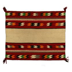 "Navajo Red Mesa Saddle Blanket, 2'10"" x 2'4"""