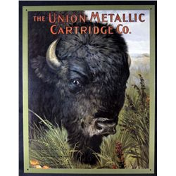 5654 - METAL ADVERTISING SIGN - UNION METALLIC CARTRIDGE CO. - 12.5x16
