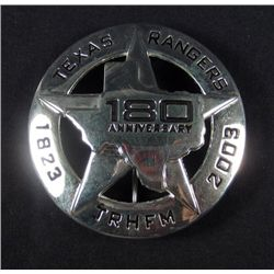 6178 - TEXAS RANGER 1823-2003 180TH ANNIVERSARY BADGE