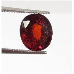 6297 - 3.9 CT - NATURAL OVAL CUT HESSONITE GARNET
