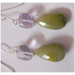 Natural 42.00ct Semi Precious Earring .925 Sterling