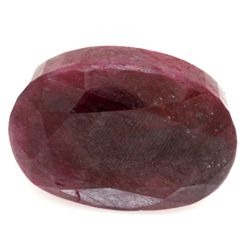 Natural 151.36 ctw Ruby Oval Stone