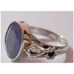 Natural 16.75 ctw Tanzanite Oval Ring .925 Sterling