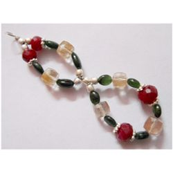 Natural 36.70ct Semi Precious Bracelet .925 Sterling