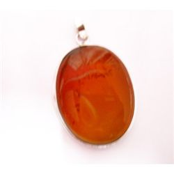 Natural 55.55 ctw Susunight Oval Pendant .925 Sterling